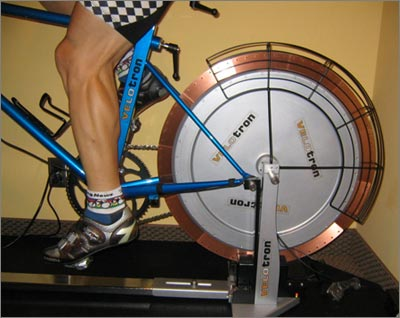 That's a 55lb. flywheel in back, and about as close as you can get to the true feel of cycling
