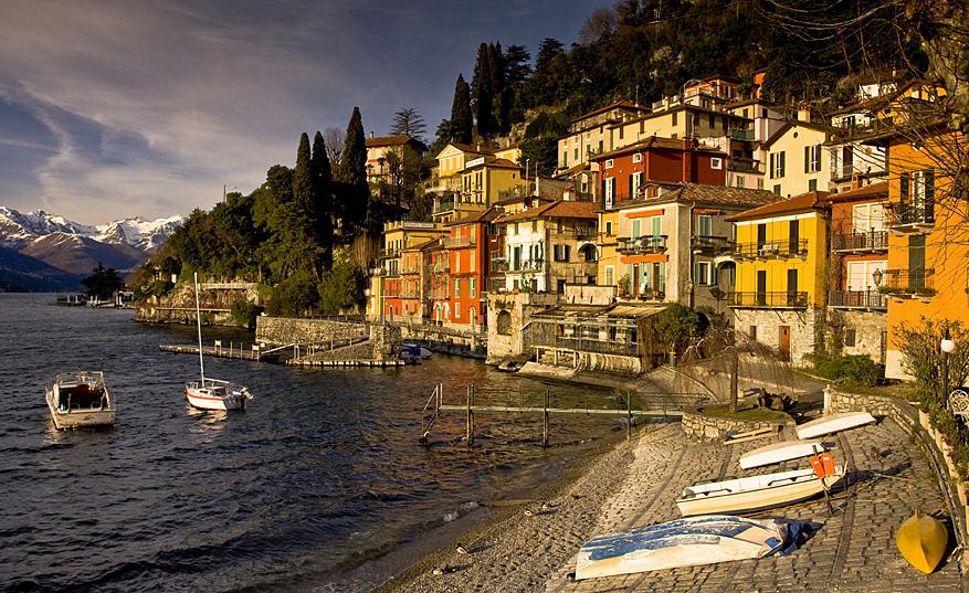 The village of Varenna on Lake Como, Italy