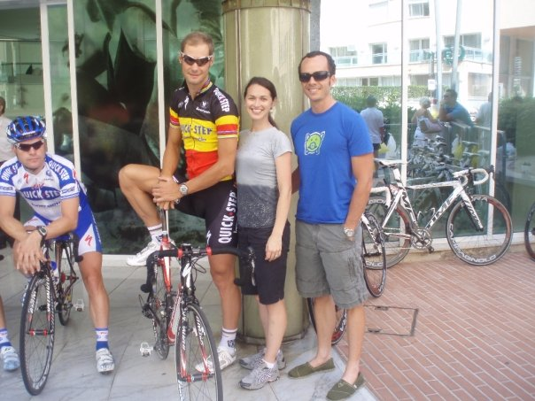 Jess and I with Tom Boonen