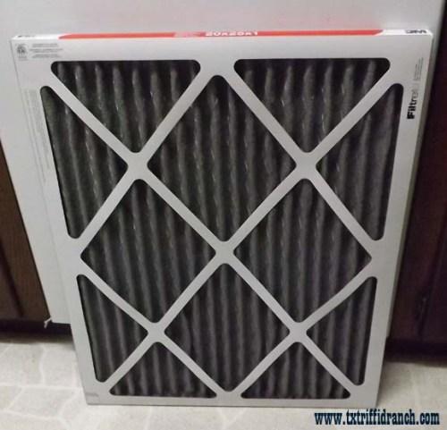 Air filter, bottom