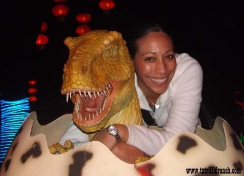 Baby tyrannosaur at Chinese Lantern Festival