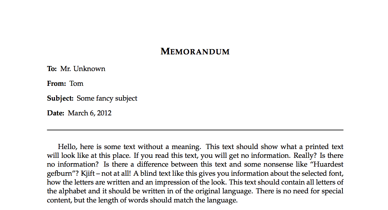 writing a memo in latex texblog writing a memo in latex
