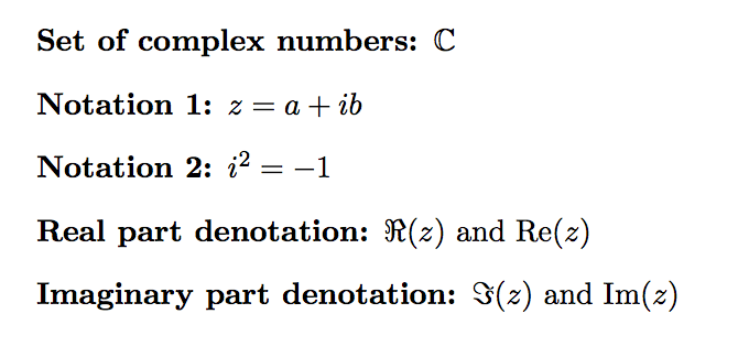 Complex Number Symbols In Latex Texblog