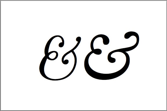 ampersand-italics-cmr-librecaslon-latex