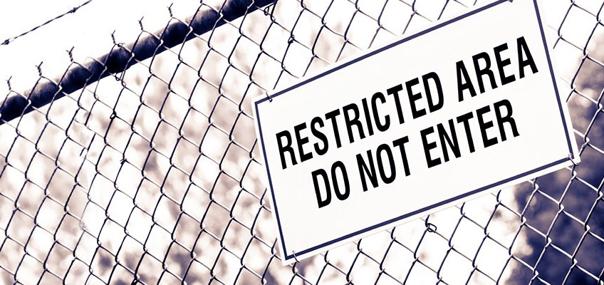 picture restricted area