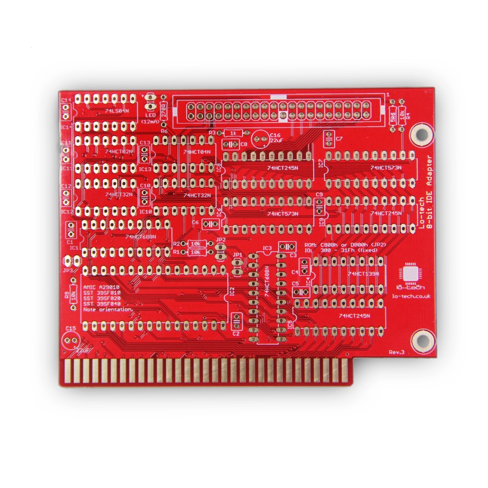 Lo-tech 8-bit IDE Adapter (PCB Only)