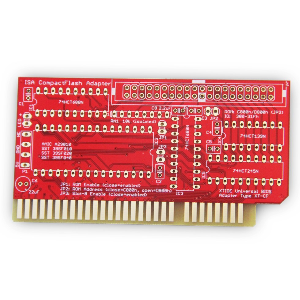 Lo-tech ISA XT CF Adapter rev. 3 (PCB Only)