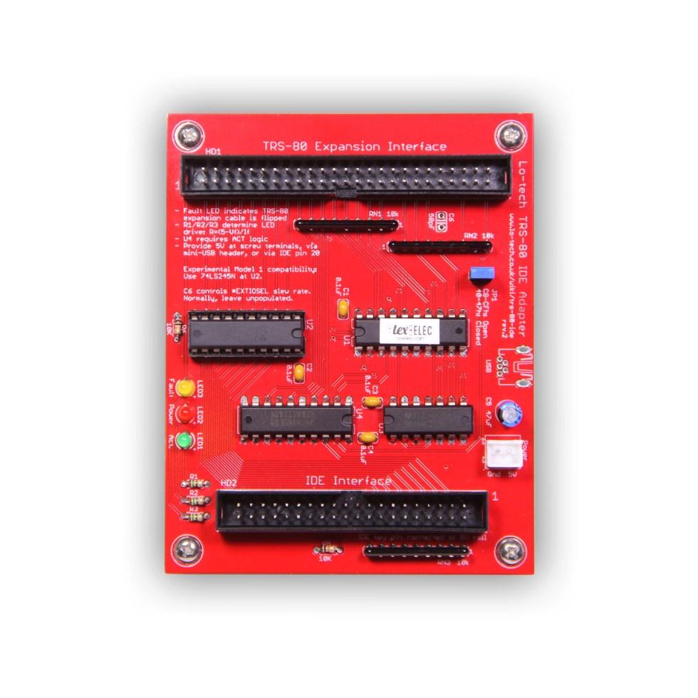 Lo-tech TRS-80 IDE Adapter rev. 2