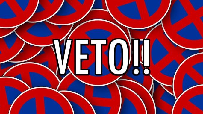 """""""Veto"""" banner."""
