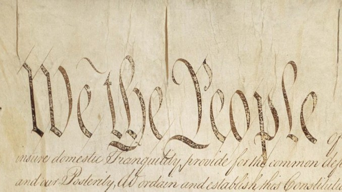 """We the People"" from U.S. Constitution"