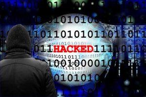 Hacked computer screen