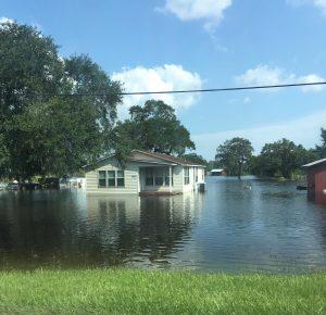 Flooded Houston area neighborhood. Sep. 2017.