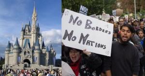 DACA Advocates Build a Human Wall at Disneyland