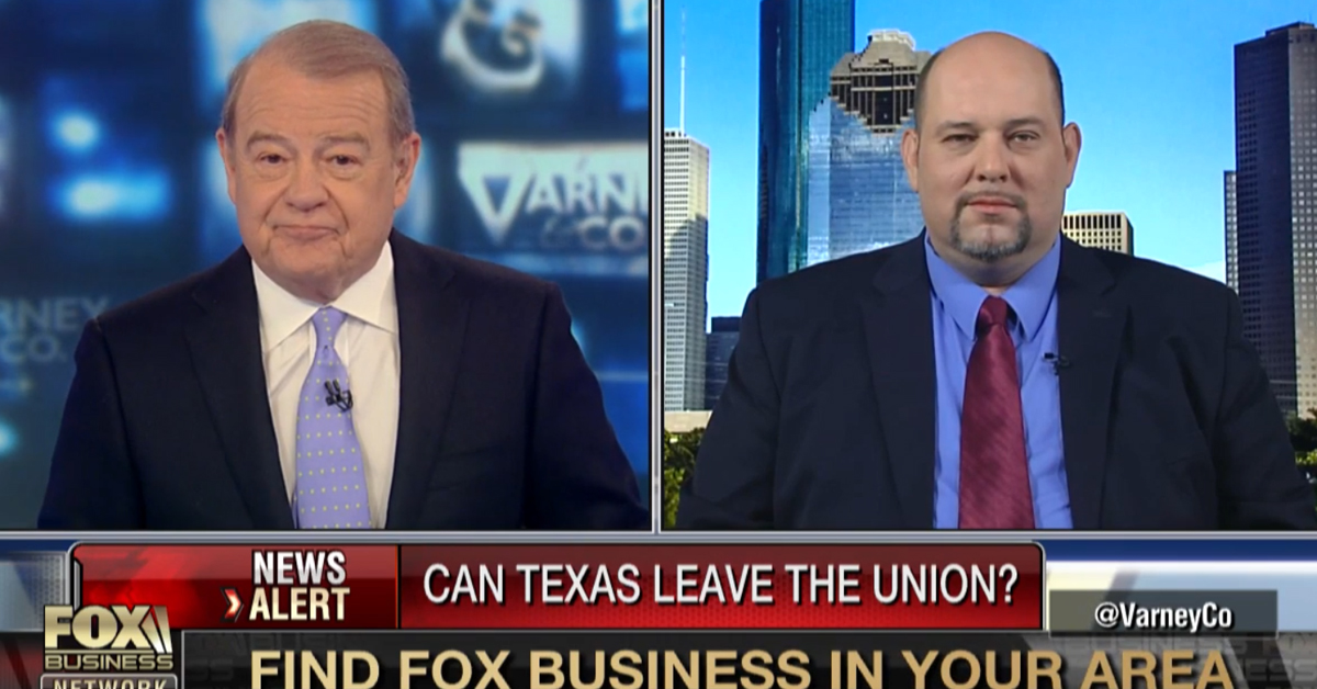 "Daniel Miller Promotes ""Texit"" on Fox Business"