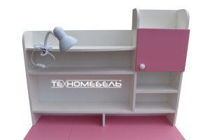 Детская парта ТЕХНОмебель от 3-х до 18 лет белый-розовая