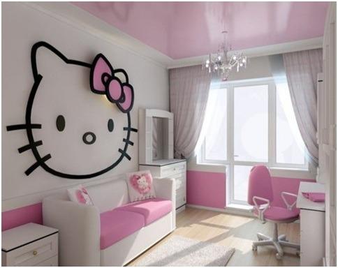 Hello Kitty Σχέδια παιδικού δωματίου6
