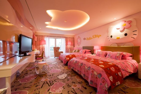 Hello Kitty Σχέδια παιδικού δωματίου8