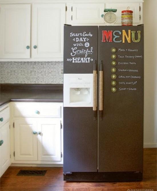 Βαφή Μαυροπίνακα στο ψυγείο σας8