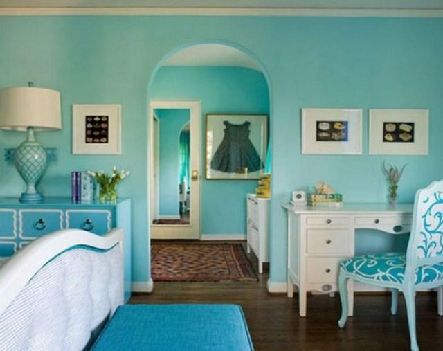 Μπλε χρώμα στην εσωτερική διακόσμηση14