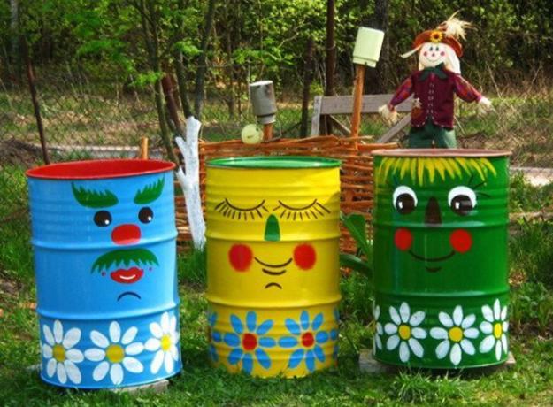 Πολύχρωμες Ιδέες ανακύκλωσης Μεταλλικών βαρελιών2