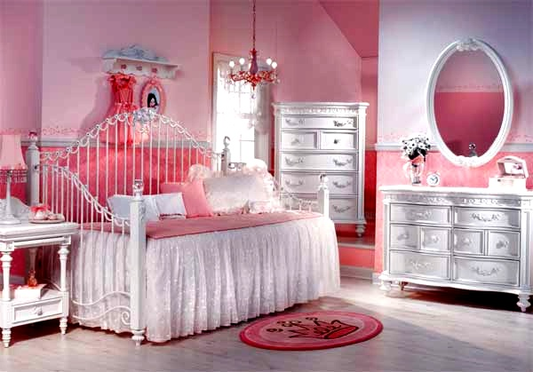 Ροζ Ιδέες για παιδικό Υπνοδωμάτιο7