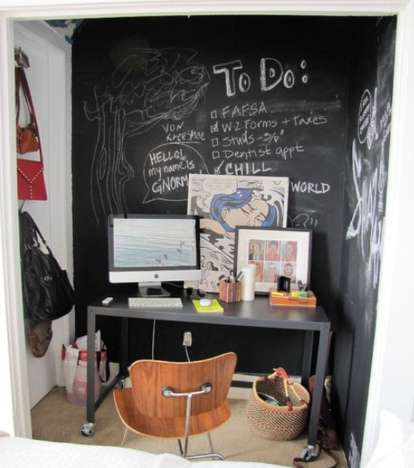 χρώμα μαυροπίνακα για διακόσμηση στο σπίτι7