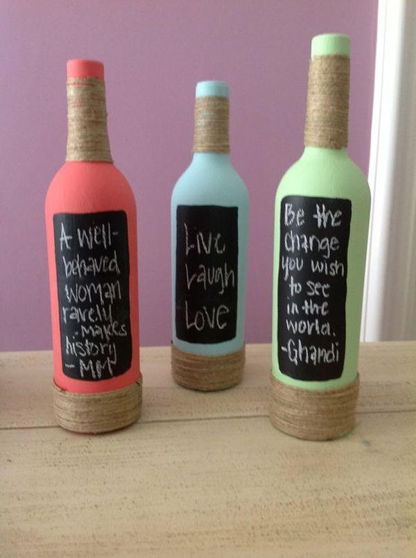 Diy Ιδέες από Μπουκάλια κρασιού18