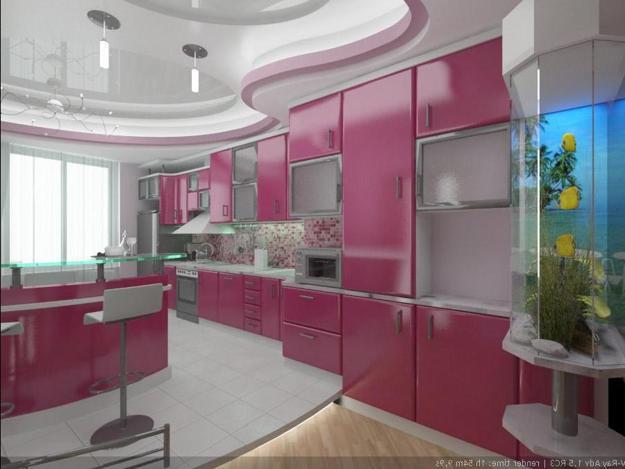 Ιδέες με Μοβ και ροζ χρώματα κουζίνας14