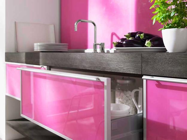 Ιδέες με Μοβ και ροζ χρώματα κουζίνας2