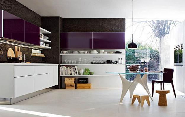 Ιδέες με Μοβ και ροζ χρώματα κουζίνας6