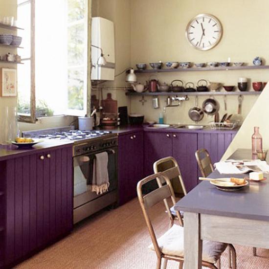 Ιδέες με Μοβ και ροζ χρώματα κουζίνας7