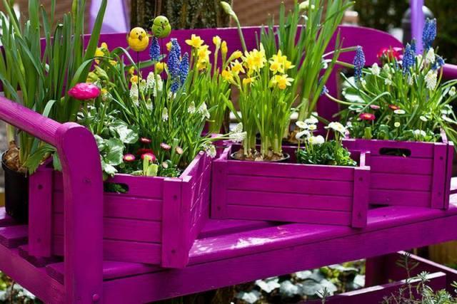Παλιά Τελάρα για να διακοσμήσετε τον κήπο σας3