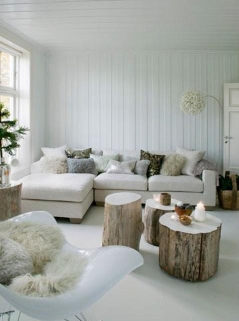 Ιδέες με Κούτσουρα Για μια Φυσική διακόσμηση σπιτιού26