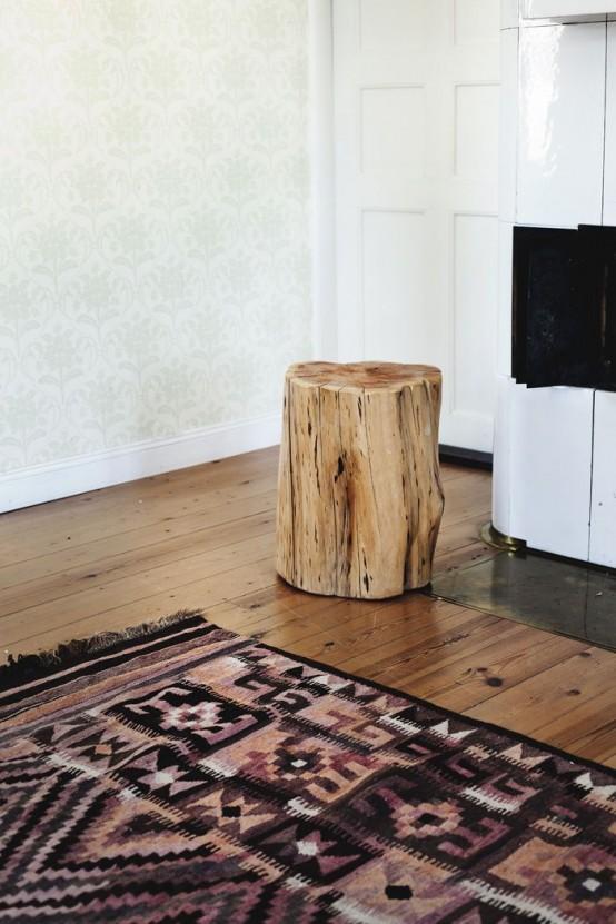 Ιδέες με Κούτσουρα Για μια Φυσική διακόσμηση σπιτιού29