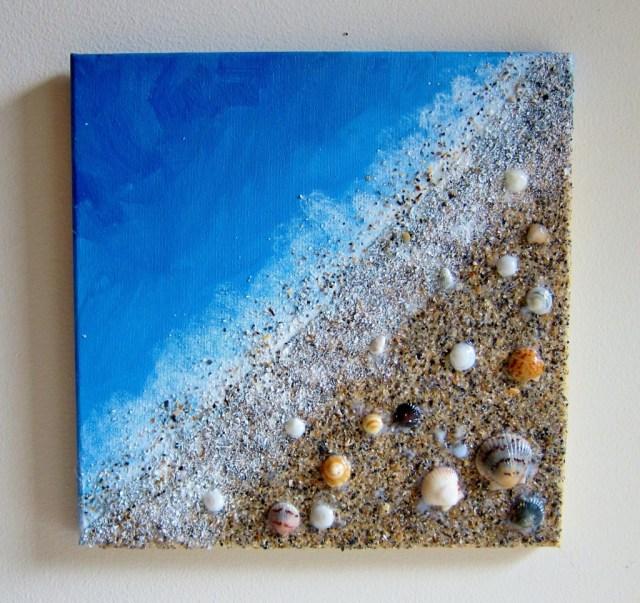 DIY έργο τέχνης Πίνακας ζωγραφικής Παραλία5
