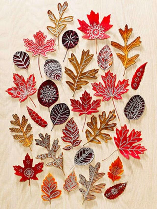 Φθινοπωρινές DIY διακοσμητικές ιδέες με φύλλα1