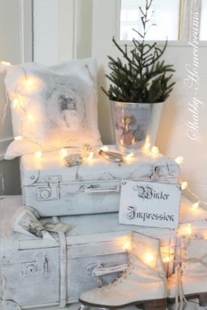 Ιδέες για Vintage λευκά  Χριστούγεννα22