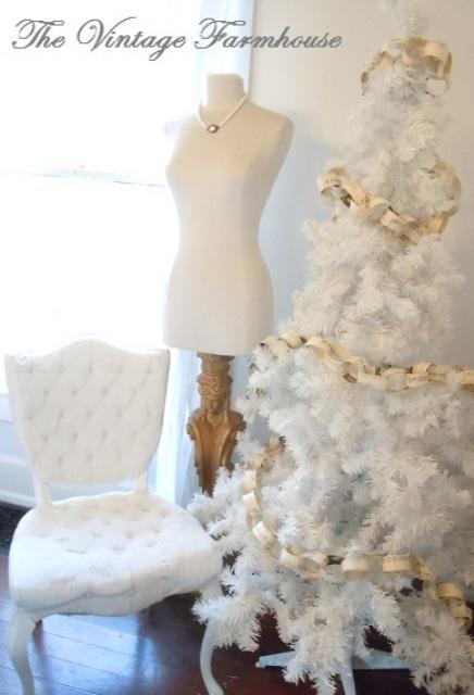 Ιδέες για Vintage λευκά  Χριστούγεννα27