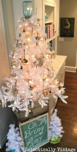 Ιδέες για Vintage λευκά  Χριστούγεννα37