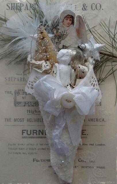 Ιδέες για Vintage λευκά  Χριστούγεννα39