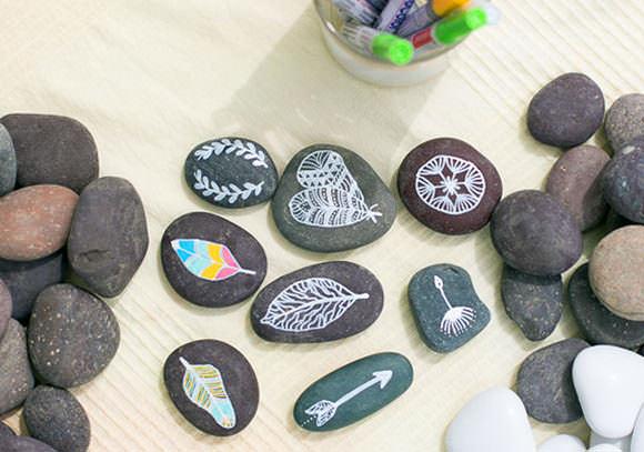 διακοσμήση με βότσαλα και πέτρες6