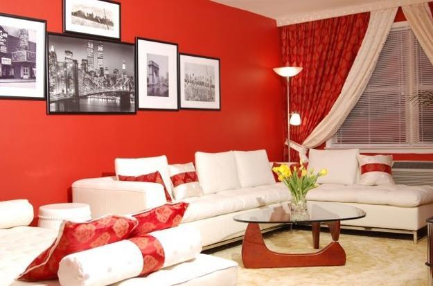 ιδέες και σχέδια για Καθιστικού με κόκκινο χρώμα16