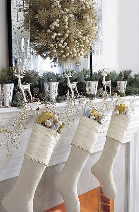χρυσάφι Και Λευκές Χριστουγεννιάτικες Ιδέες19