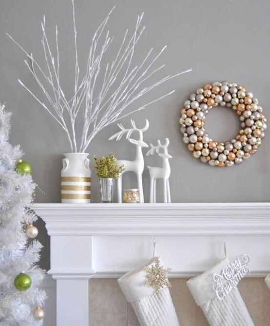 χρυσάφι Και Λευκές Χριστουγεννιάτικες Ιδέες9
