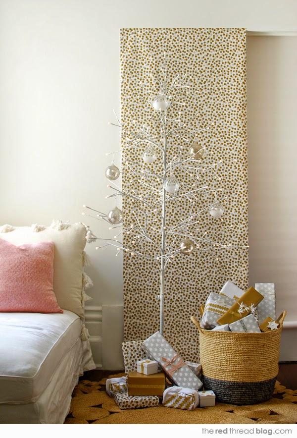 Χριστουγεννιάτικη διακόσμηση σε παστέλ, χρυσό, λευκό και ξύλο3