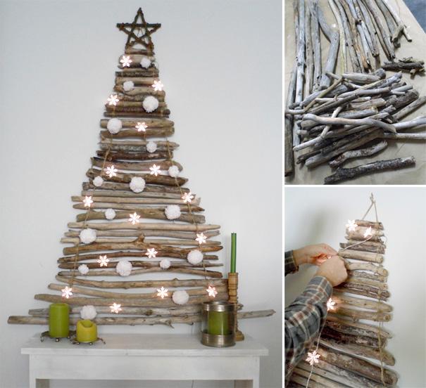 ιδέες με Χριστουγεννιάτικα Δέντρα στον τοίχο4