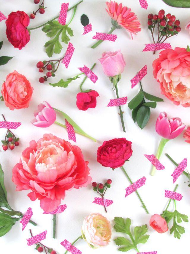 Τέχνη τοίχου με λουλούδια για την Ημέρα του Αγίου Βαλεντίνου2