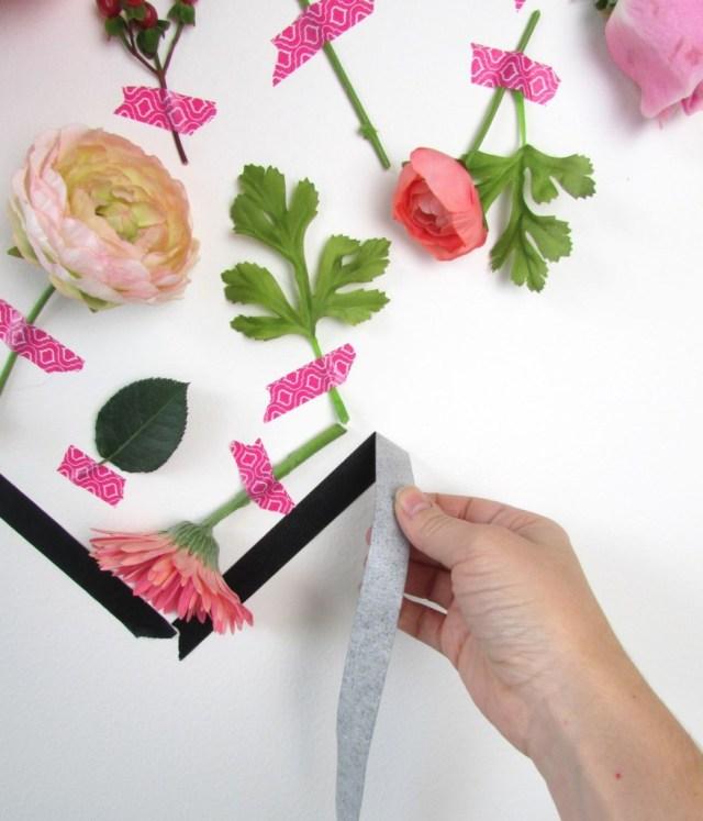 Τέχνη τοίχου με λουλούδια για την Ημέρα του Αγίου Βαλεντίνου9