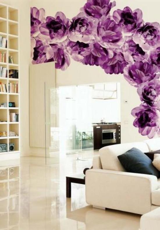 Ιδέες Διακόσμησης για την άνοιξη με λουλούδια στους τοίχους25