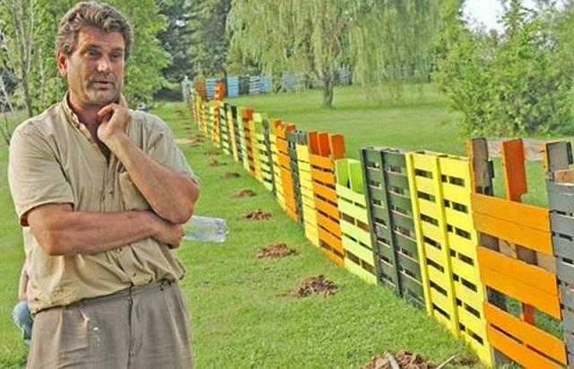 Ιδέες με Φράχτες από ξύλινες παλέτες11